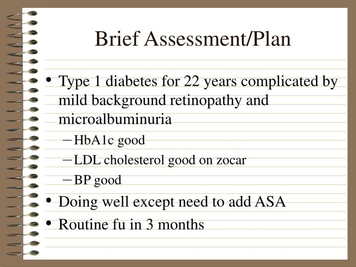 Brief Assessment/Plan