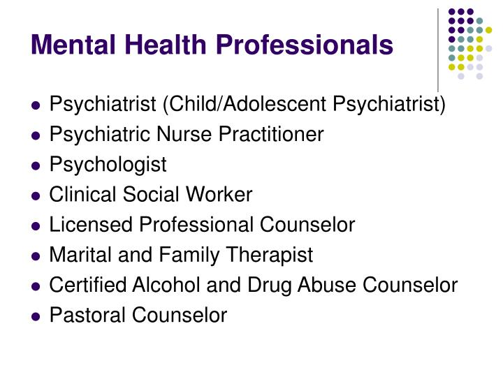 Mental Health Professionals