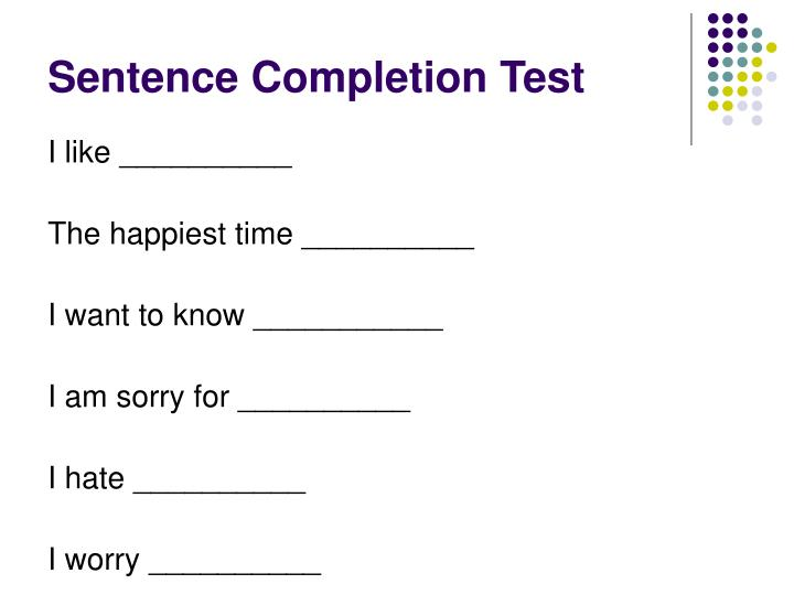 Sentence Completion Test