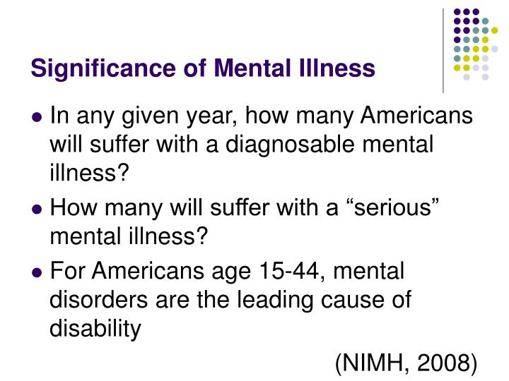 Significance of Mental Illness