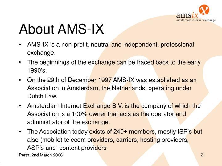 About AMS-IX