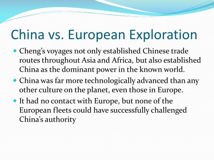China vs. European Exploration