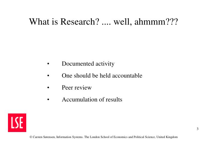 What is research well ahmmm
