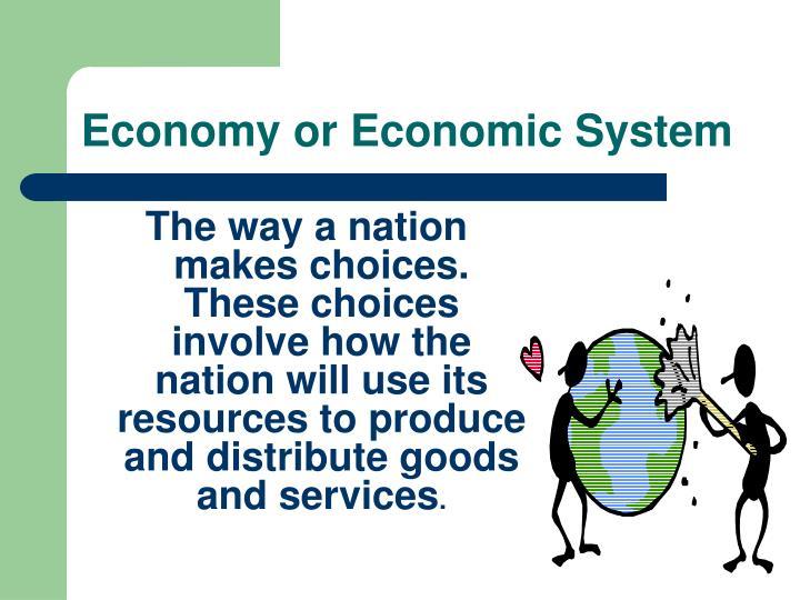 Economy or Economic System
