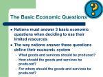 the basic economic questions