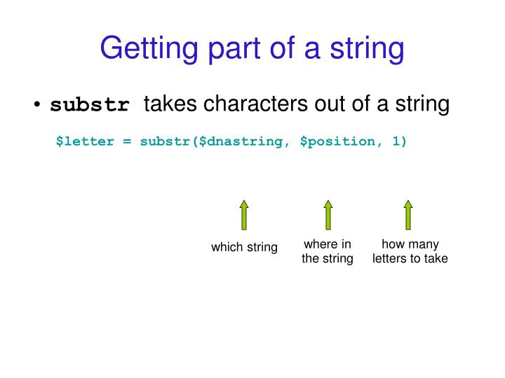 Getting part of a string