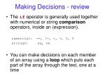 making decisions review