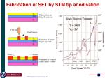 fabrication of set by stm tip anodisation