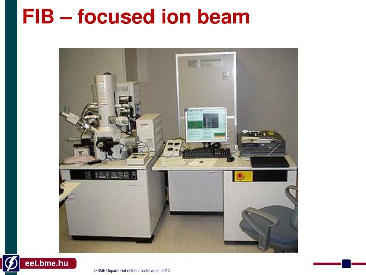 FIB – focused ion beam