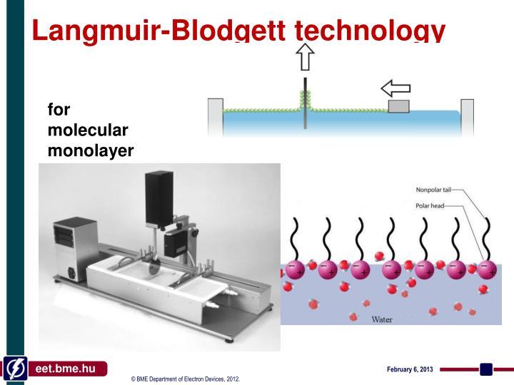 Langmuir-Blodgett technology