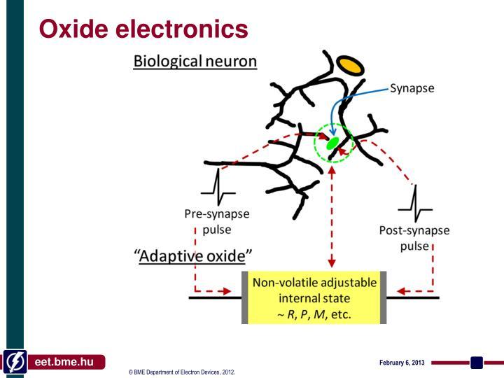 Oxide electronics
