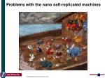 problems with the n ano self replicated machines