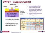 qwfet quantum well fet