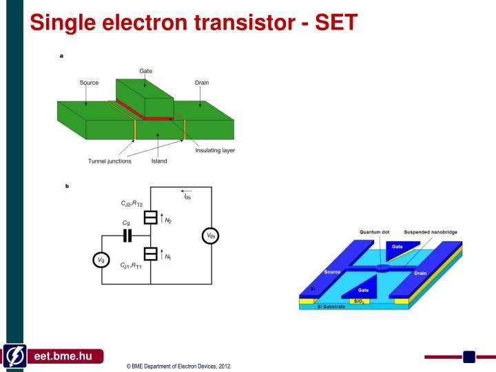 Single electron transistor - SET