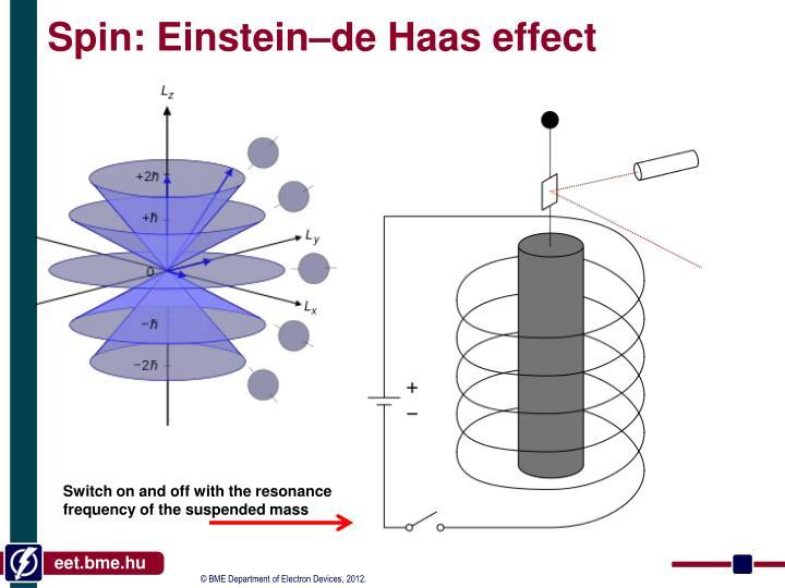 Spin: Einstein–de Haas effect