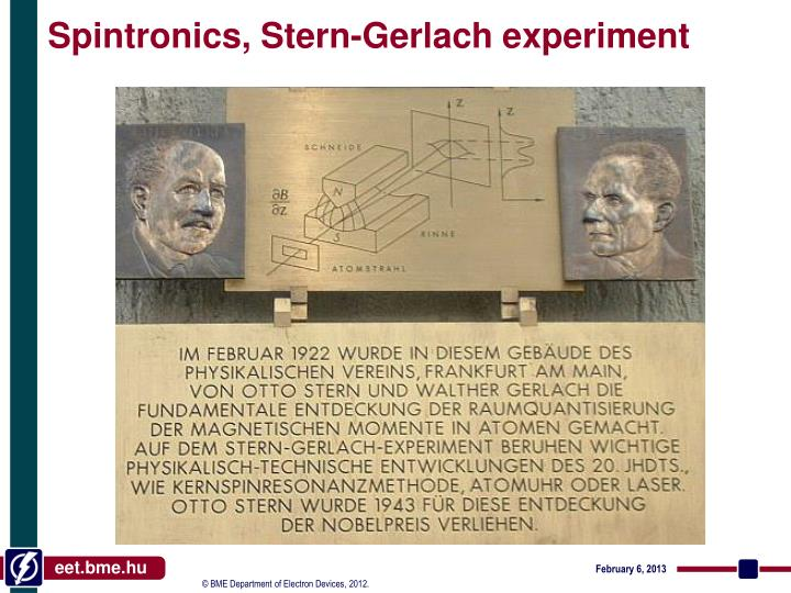 Spintronics, Stern-Gerlach experiment