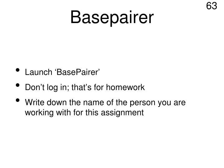 Basepairer