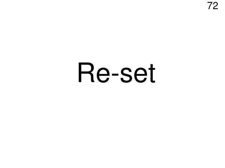 Re-set