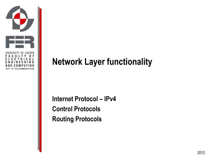 Network Layer functionality