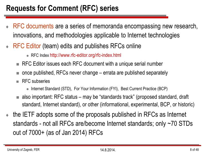 Requests for Comment (RFC)