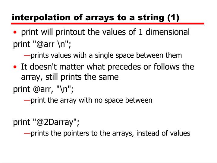 interpolation of arrays to a string (1)