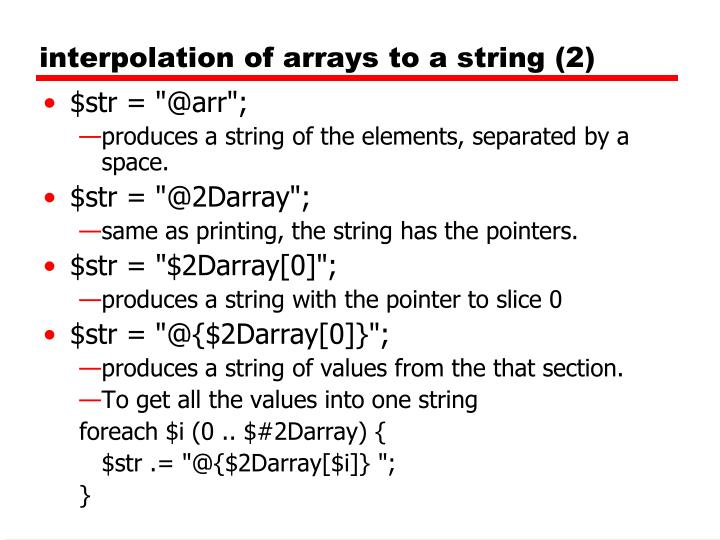 interpolation of arrays to a string (2)