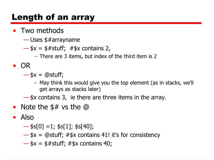 Length of an array