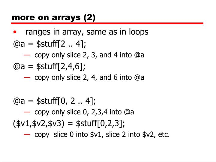 more on arrays (2)