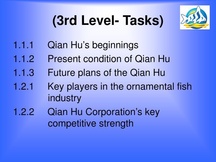 (3rd Level- Tasks)