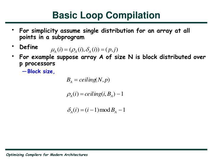 Basic Loop Compilation