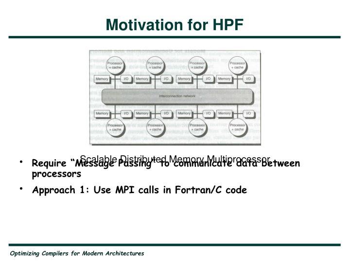 Motivation for HPF