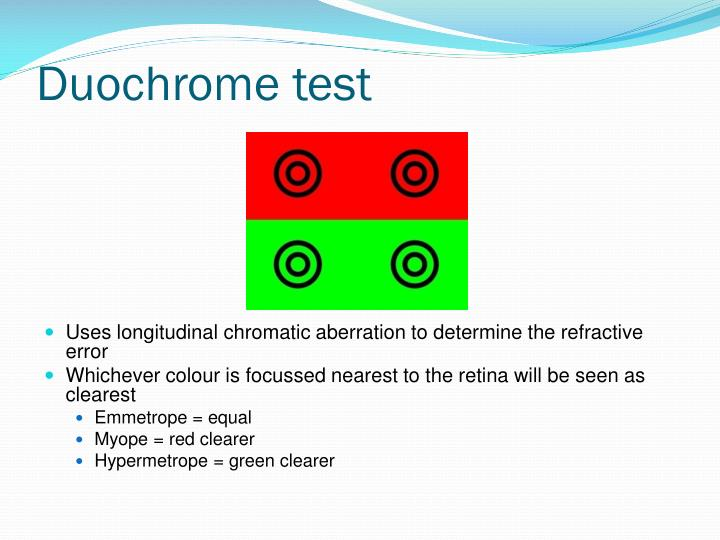 Duochrome test