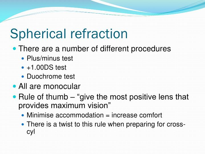 Spherical refraction