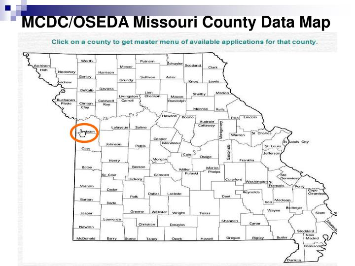 MCDC/OSEDA Missouri County Data Map