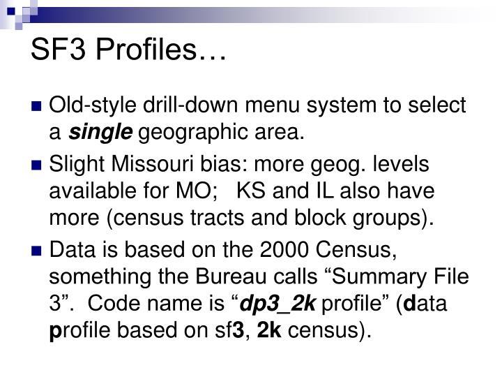 SF3 Profiles…