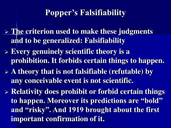 Popper's Falsifiability