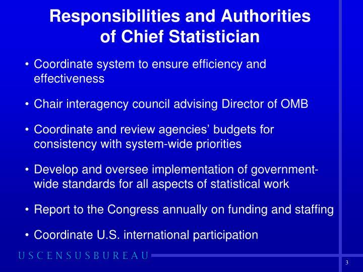 Responsibilities and Authorities