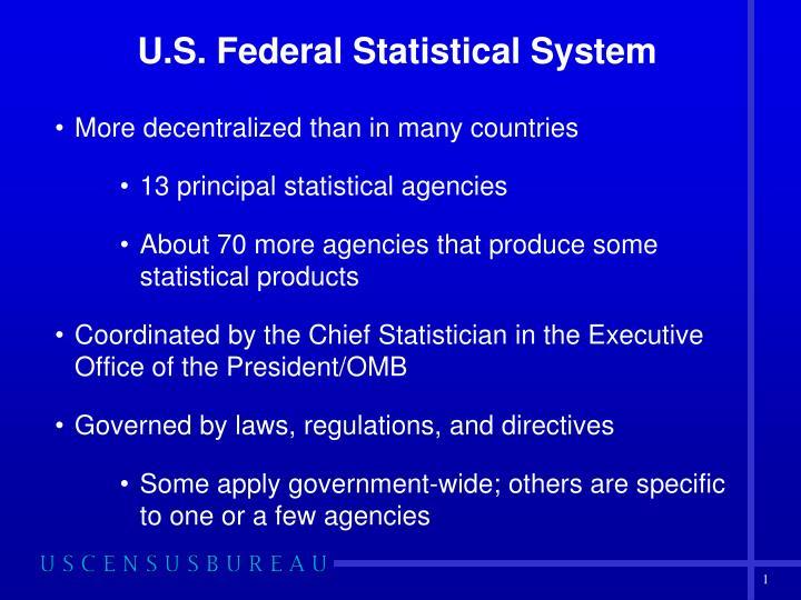 U.S. Federal Statistical System