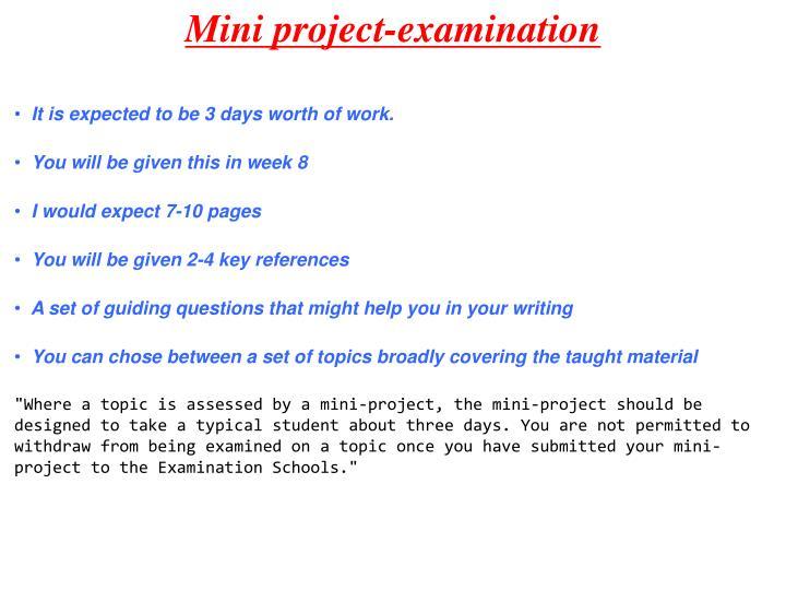 Mini project-examination
