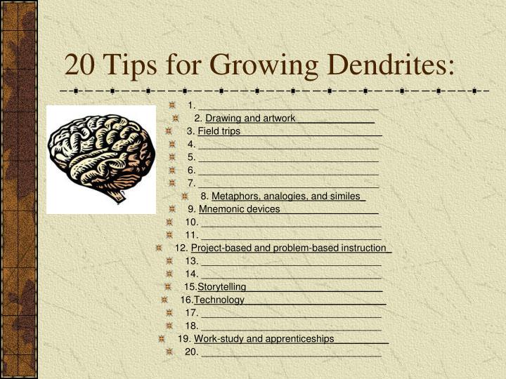 20 Tips for Growing Dendrites: