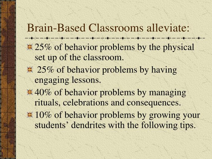 Brain based classrooms alleviate