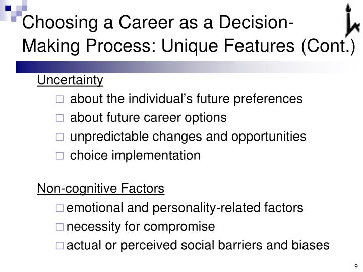 Choosing a Career as a Decision-