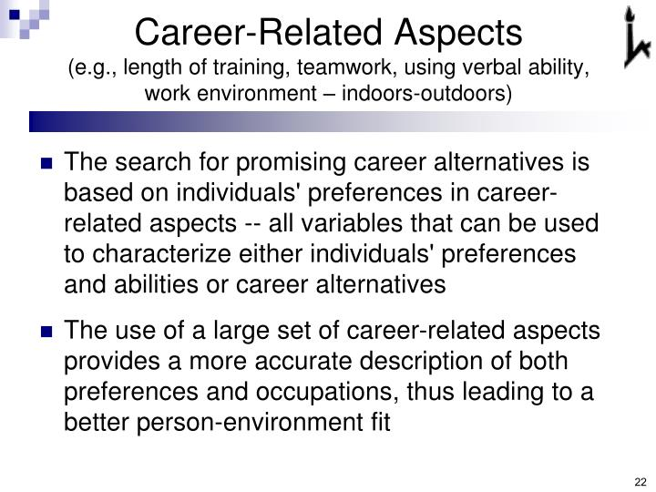 Career-Related Aspects