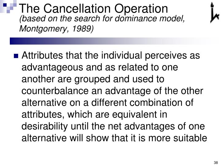 The Cancellation Operation
