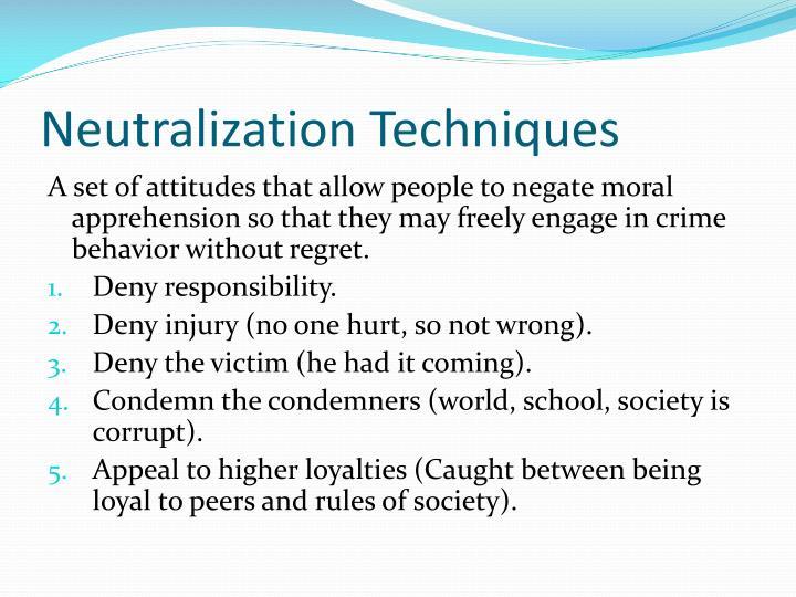 Neutralization Techniques