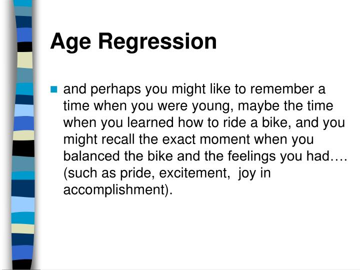 Age Regression