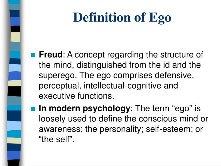 Definition of Ego