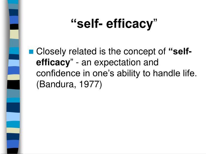 """self- efficacy"