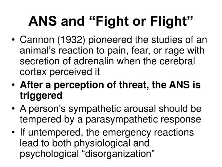 "ANS and ""Fight or Flight"""