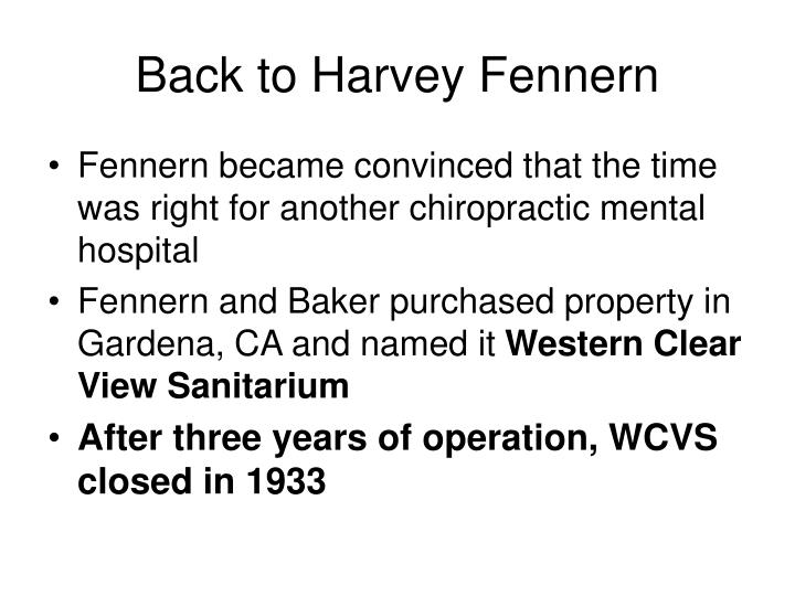 Back to Harvey Fennern